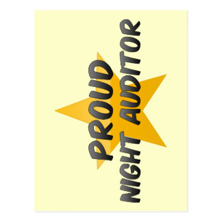 Proud Night Auditor Post Card