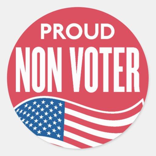 Proud Non Voter Sticker