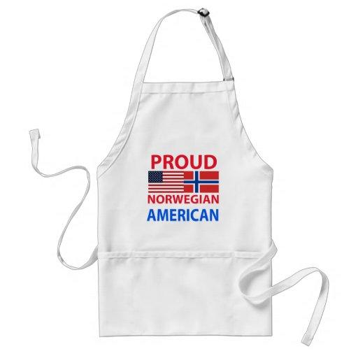 Proud Norwegian American Adult Apron