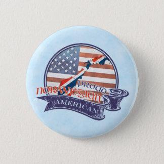 Proud Norwegian American Badges Button