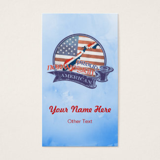 Proud Norwegian American Business Cards
