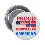 Proud Norwegian American Buttons
