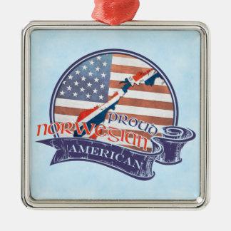 Proud Norwegian American Decoration Metal Ornament