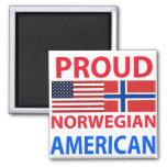 Proud Norwegian American Fridge Magnet