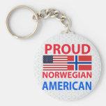 Proud Norwegian American Keychains