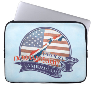 Proud Norwegian American Laptop Sleeve