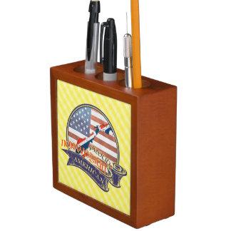 Proud Norwegian American Pencil Holder