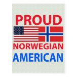 Proud Norwegian American Postcard