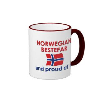 Proud Norwegian Bestefar (grandfather) Ringer Mug
