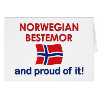 Proud Norwegian Bestemor (Grandmother) Greeting Cards