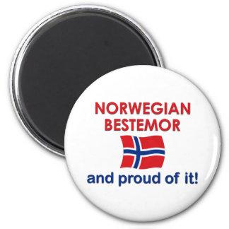 Proud Norwegian Bestemor (Grandmother) Magnet