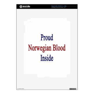 Proud Norwegian Blood Inside Decal For iPad 2