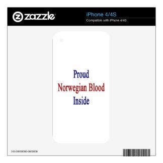 Proud Norwegian Blood Inside iPhone 4 Decal