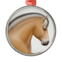 Proud Norwegian Fjord Horse Ornament