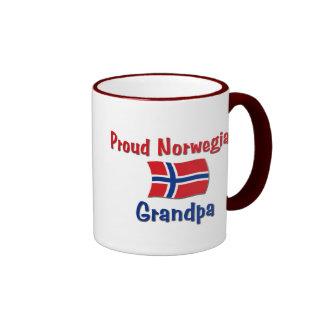 Proud Norwegian Grandpa Ringer Mug