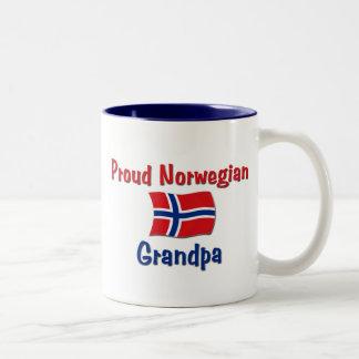Proud Norwegian Grandpa Two-Tone Coffee Mug