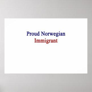 Proud Norwegian Immigrant Poster