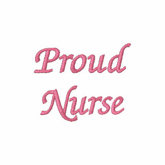 Proud Nurse- L.P.N./Pink Embroidered Hooded Sweatshirt