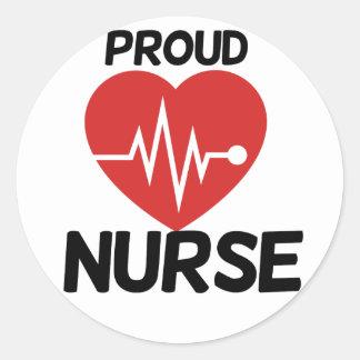 Proud Nurse Round Stickers