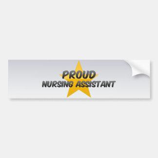 Proud Nursing Assistant Car Bumper Sticker