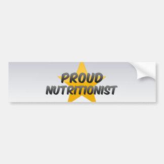Proud Nutritionist Car Bumper Sticker