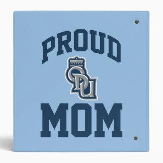 Proud ODU Mom 3 Ring Binders