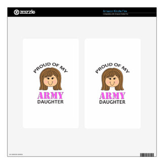 PROUD OF ARMY DAUGHTER SKIN FOR KINDLE FIRE