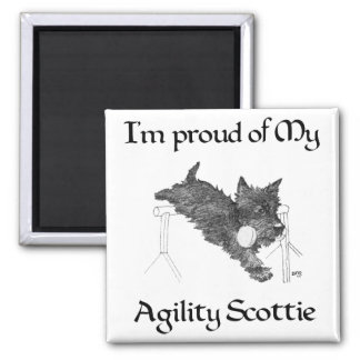 Proud of My Agility Scottie Refrigerator Magnets