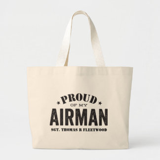 Proud of My Airman Large Tote Bag