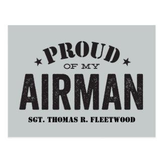 Proud of My Airman Postcard