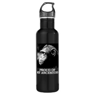 Proud of My Ancestors - Evolution - - Pro-Science  Water Bottle