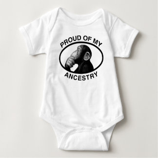 Proud Of My Ancestry Chimp Baby Bodysuit