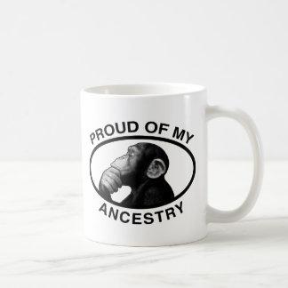 Proud Of My Ancestry Chimp Coffee Mug