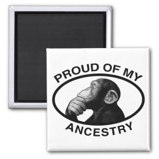 Proud Of My Ancestry Chimp Magnet