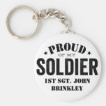 Proud of my Army SOLDIER Basic Round Button Keychain