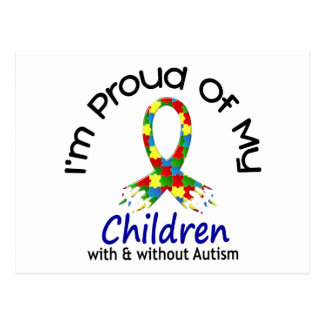 Proud Of My Children With & Without Autism Postcard