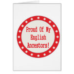 Proud Of My English Ancestors Cards