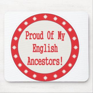 Proud Of My English Ancestors Mousepad