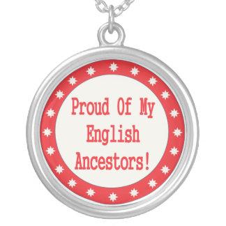 Proud Of My English Ancestors Necklace