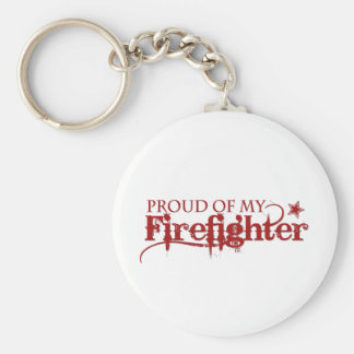 Proud of my Firefighter Basic Round Button Keychain