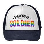Proud of My Gay Soldier Rainbow Flag Trucker Hat
