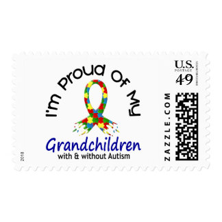 Proud Of My Grandchildren With & Without Autism Postage