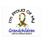 Proud Of My Grandchildren With & Without Autism Post Card