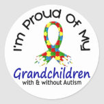 Proud Of My Grandchildren With & Without Autism Sticker