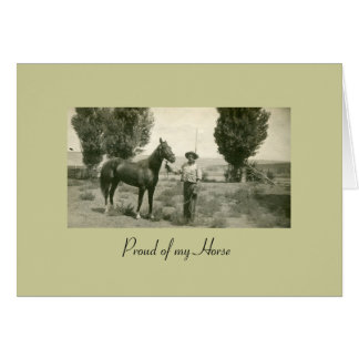 Proud of my Horse Stationery Note Card