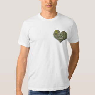 Proud of My Soldier Camo Heart with Yellow Ribbon Shirts