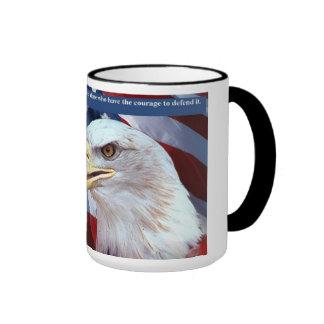 Proud of my Soldier Ringer Coffee Mug