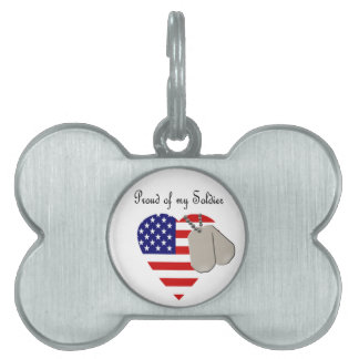 Proud of my Soldier Pet ID Tags