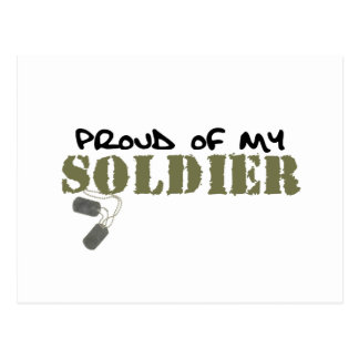 Proud of My Soldier Postcard