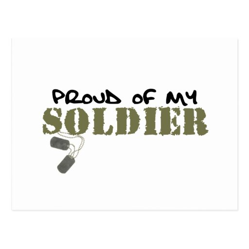 Proud of My Soldier Postcards